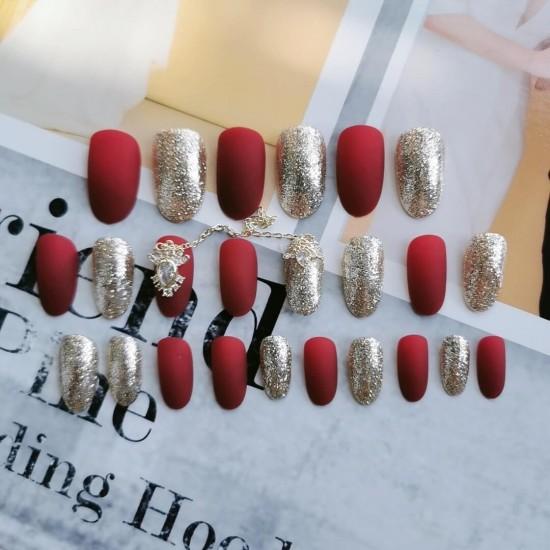 Луксозни изкуствени нокти за маникюр за изящни и стилни дами - модел NK036