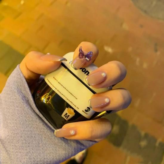 Луксозни изкуствени нокти за маникюр за изящни и стилни дами - модел NK043