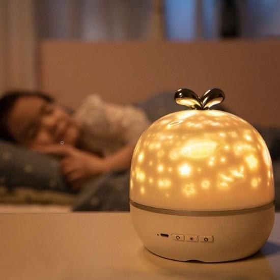 Уникална детска нощна лампа прожектор 2 в 1