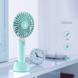 Ръчен мини вентилатор с USB зареждане и стойка