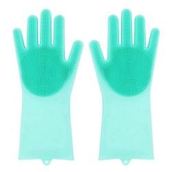Силиконова ръкавица с измиващ скраб 2 в 1
