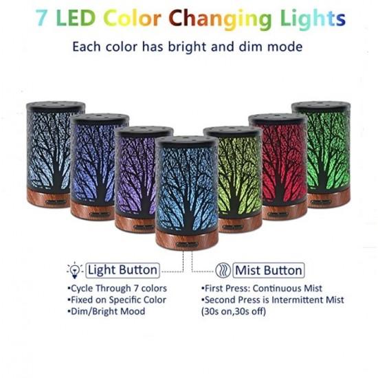 Дифузер с орнаменти за етерични масла, 7 LED светлини