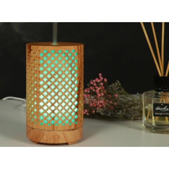 Дървен арома дифузер, 7 LED светлини
