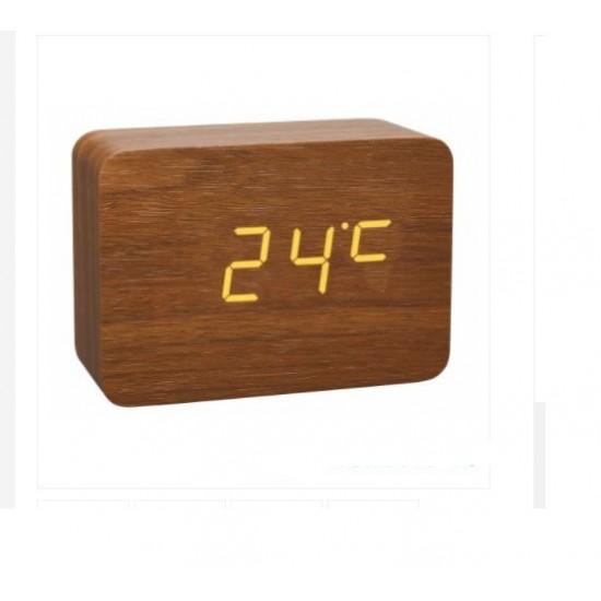 Луксозен дигитален часовник с вграден термометър