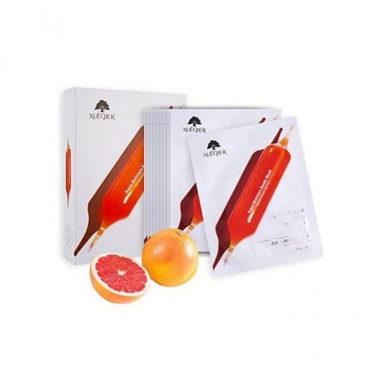 Подхранваща и овлажняваща маска за лице с екстракт от червен портокал 10бр в кутия