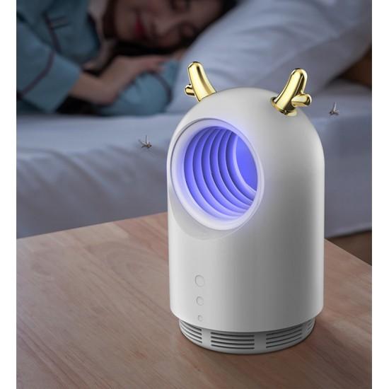 Лампа капан за комари с USB и рога на едро