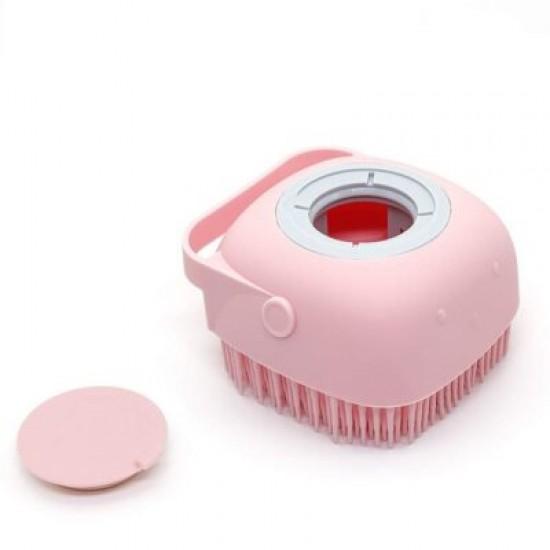 Силиконова гъба за баня с резервоарче за сапун