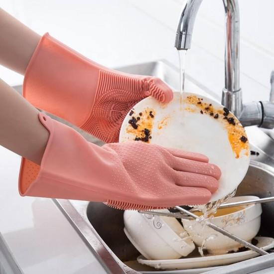 Силиконова ръкавица + измиващ скраб 2 в 1